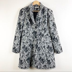 🌿 Romy Pea Coat Super Cute Pattern Unique Rare